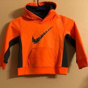 Nike Orange Therma Fit Hoodie Size 3T